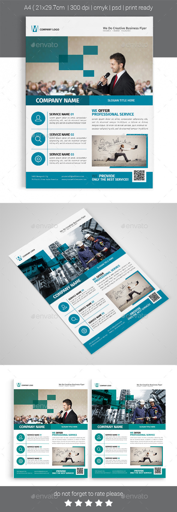 A4 Corporate Business Flyer Template Vol 06 - Corporate Flyers