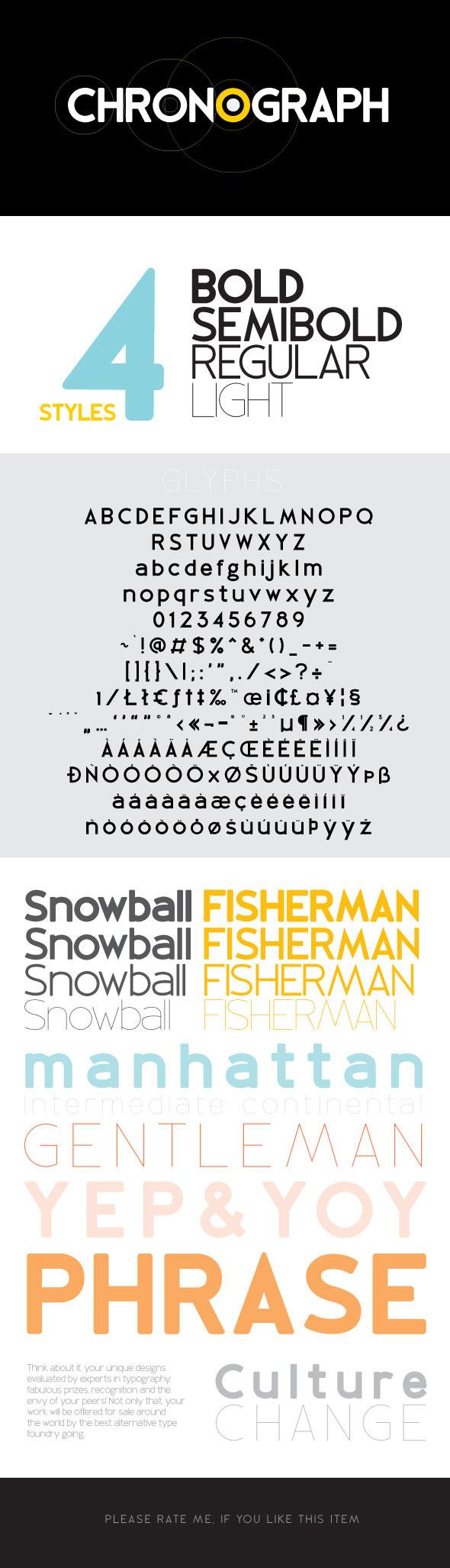 Chronograph - Sans-Serif Fonts
