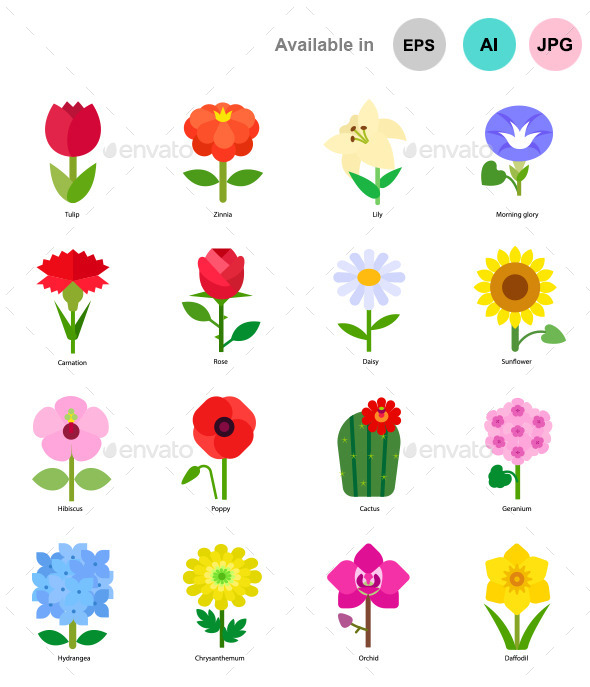 Flowers - Miscellaneous Characters