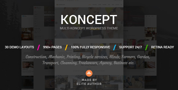 Koncept – Responsive Multi-Concept WordPress Theme