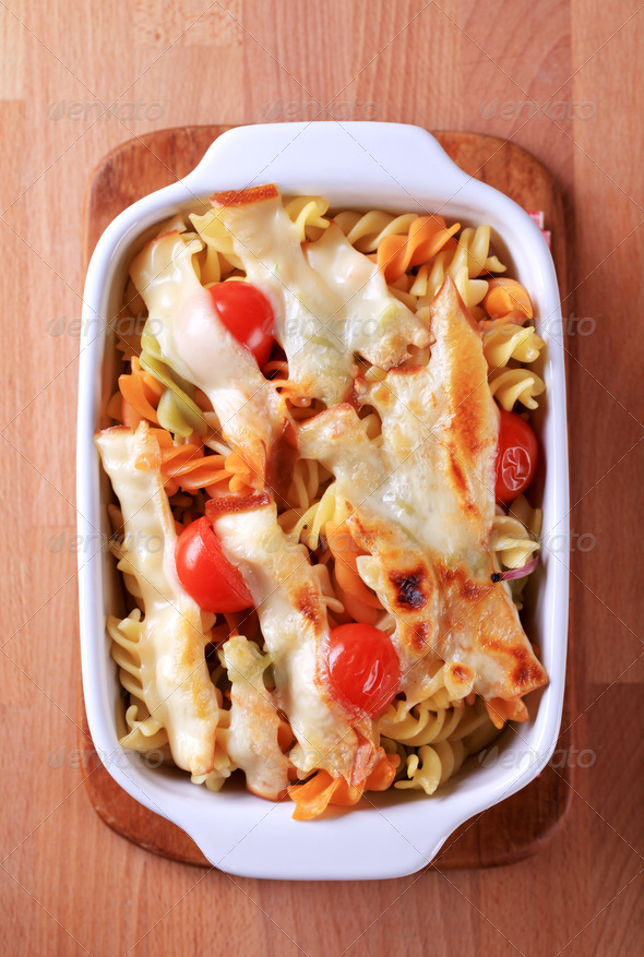 Vegetarian pasta - Stock Photo - Images
