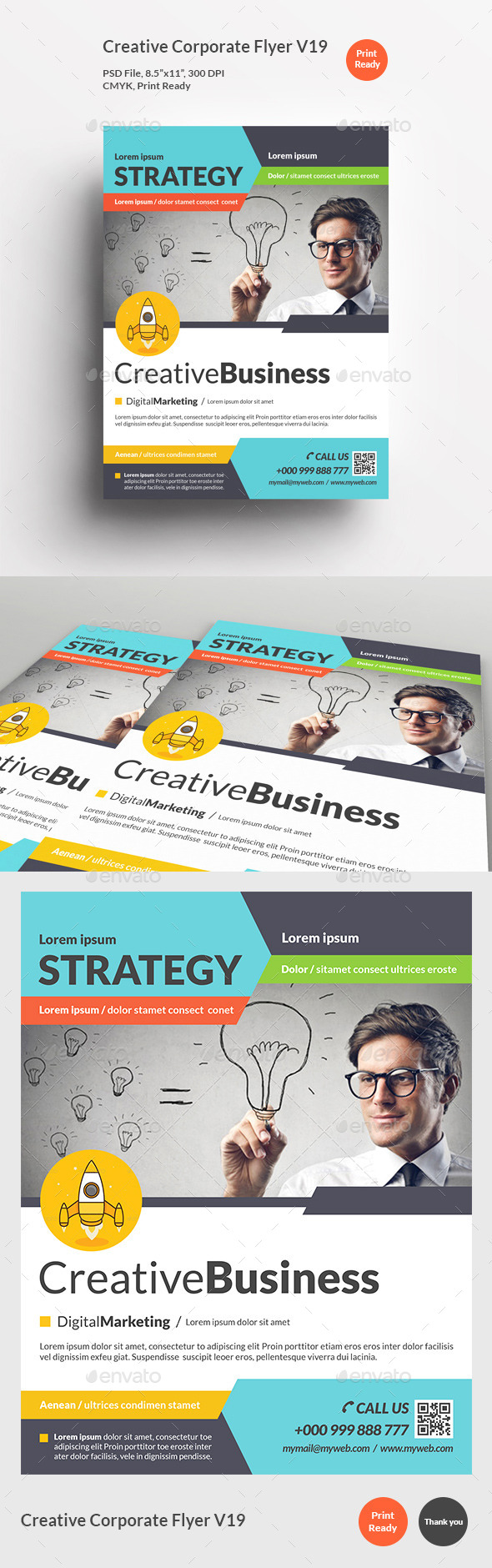 Creative Corporate Flyer V19 - Corporate Flyers