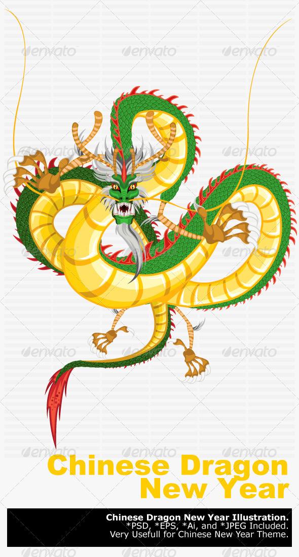 Chinese Dragon New Year - New Year Seasons/Holidays