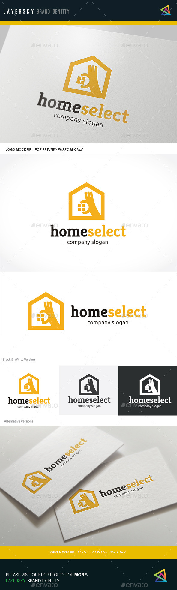 Home Select - Buildings Logo Templates