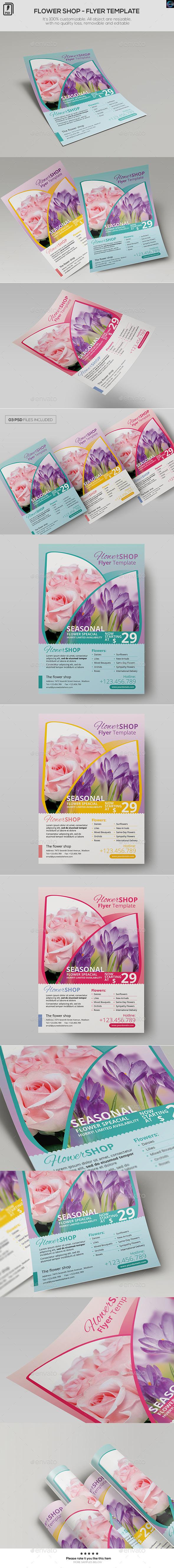 Flower Shop - Flyer Template - Commerce Flyers