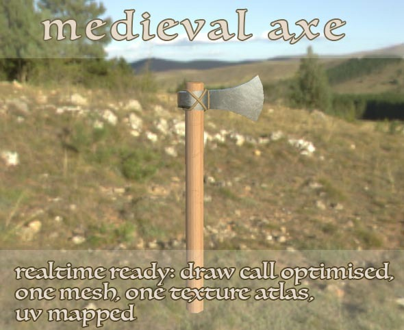 Medieval Viking Axe LP - 3DOcean Item for Sale
