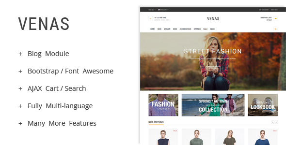 Venas – Prestashop Theme