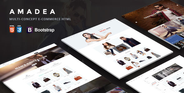 Amadea | Multi-Concept E-commerce Html Template