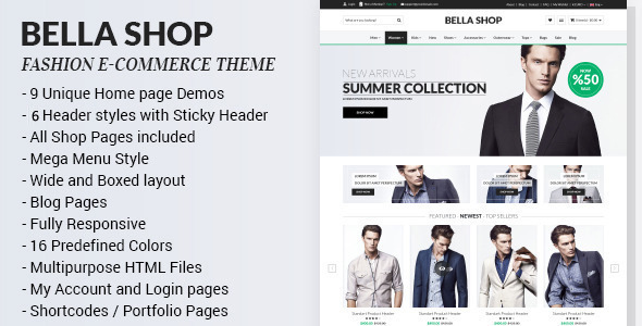 Bella – Multipurpose eCommerce HTML Template