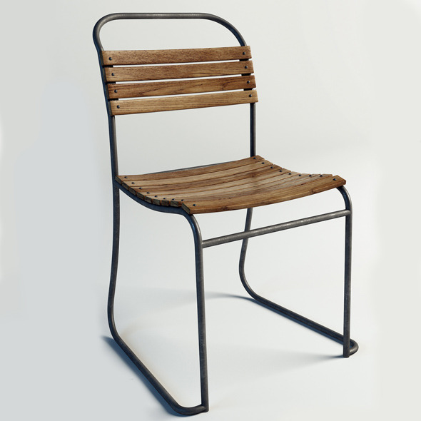 Wood Side Chair - 3DOcean Item for Sale