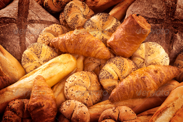 Fresh bread and pastry - Stock Photo - Images