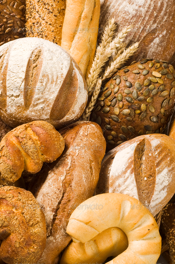 Variety of fresh bread - Stock Photo - Images