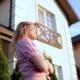 Beautiful Girl Enjoying Sunlight In Yard - VideoHive Item for Sale