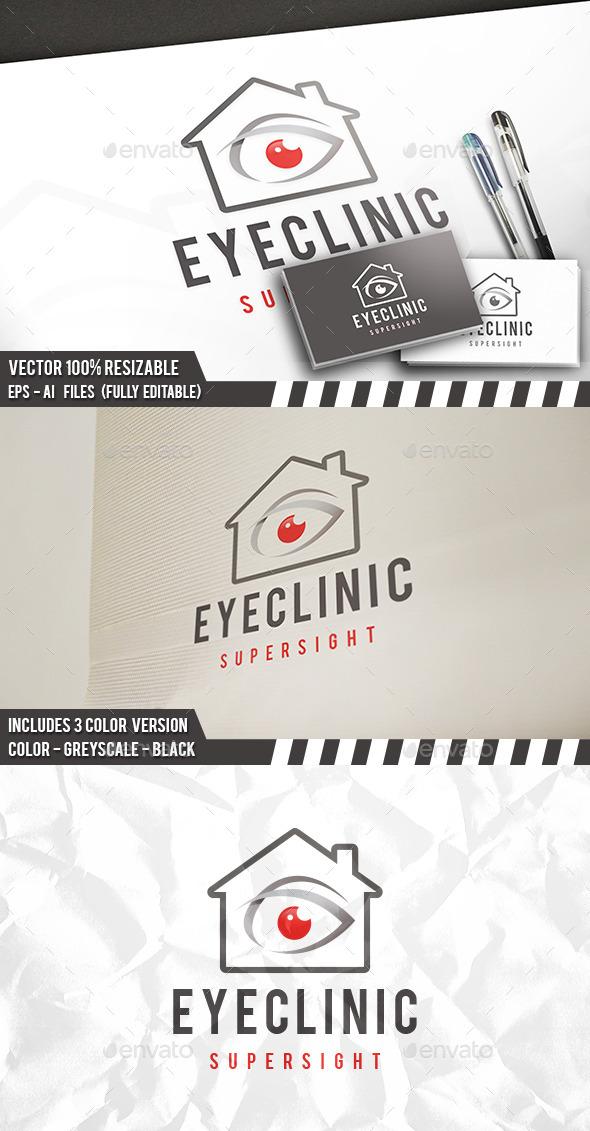 Eye Clinic Logo - Buildings Logo Templates