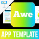 Awesome App Startup Keynote Template - GraphicRiver Item for Sale