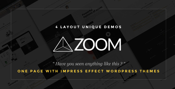 Zoom – Zooming Page and One Page WordPress Theme