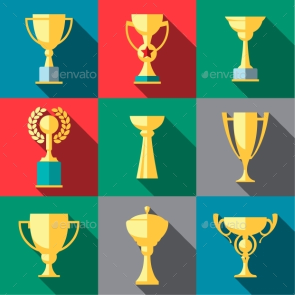 Trophy Icons Winner Cup - Sports/Activity Conceptual