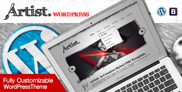 Artist Multipurpose Sketch Layout WordPress Theme