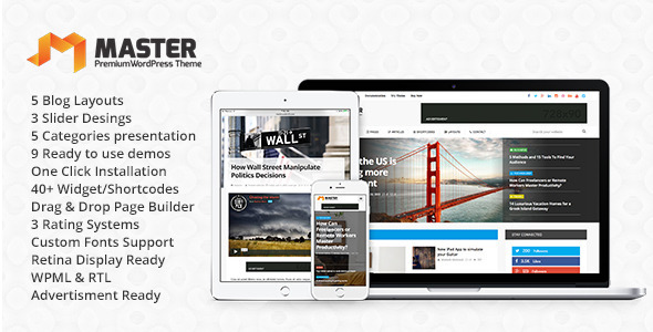 Master | Premium Blog & Magazine WordPress Theme