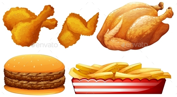 Chicken and Fast Food - Food Objects
