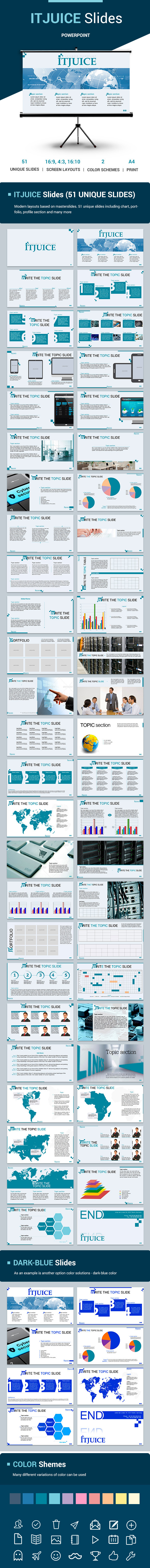 IT JUICE Powerpoint Slides Template - Business PowerPoint Templates