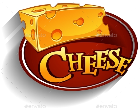 Cheese with Text - Food Objects