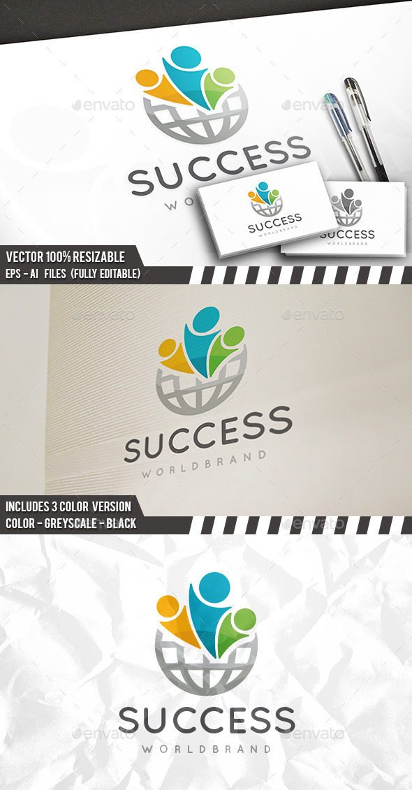Success World Logo - Humans Logo Templates