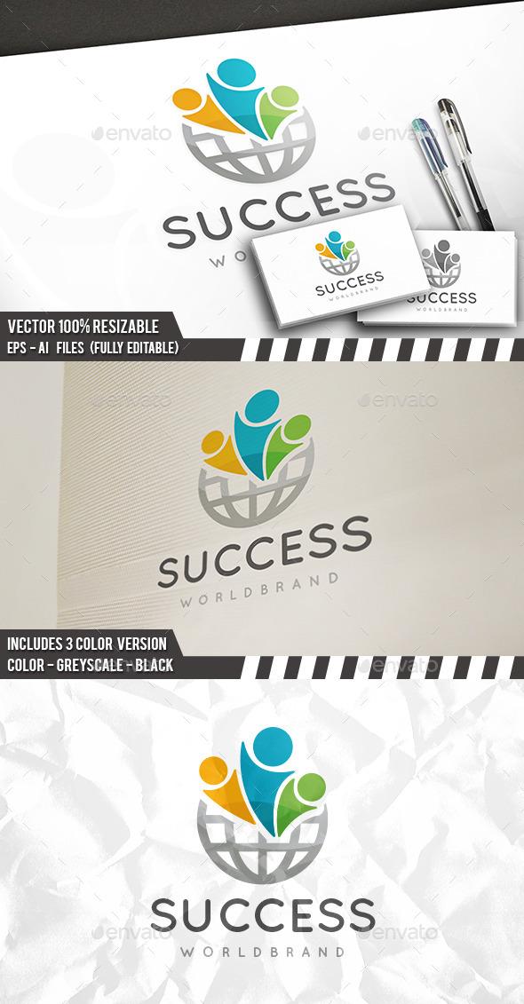 Success World Logo - Humans Logo Templates