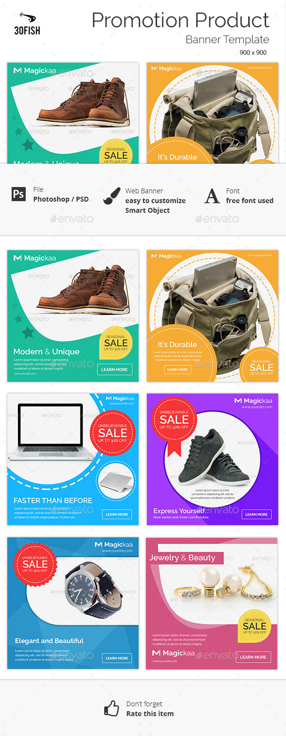 Promotion Product Sale Banner - Banners & Ads Web Elements