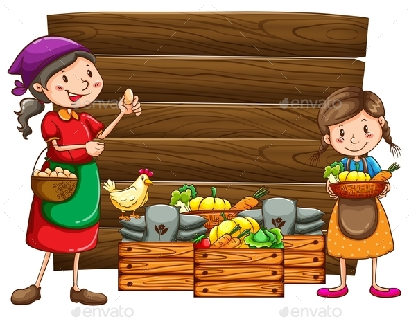 Farm Products - People Characters