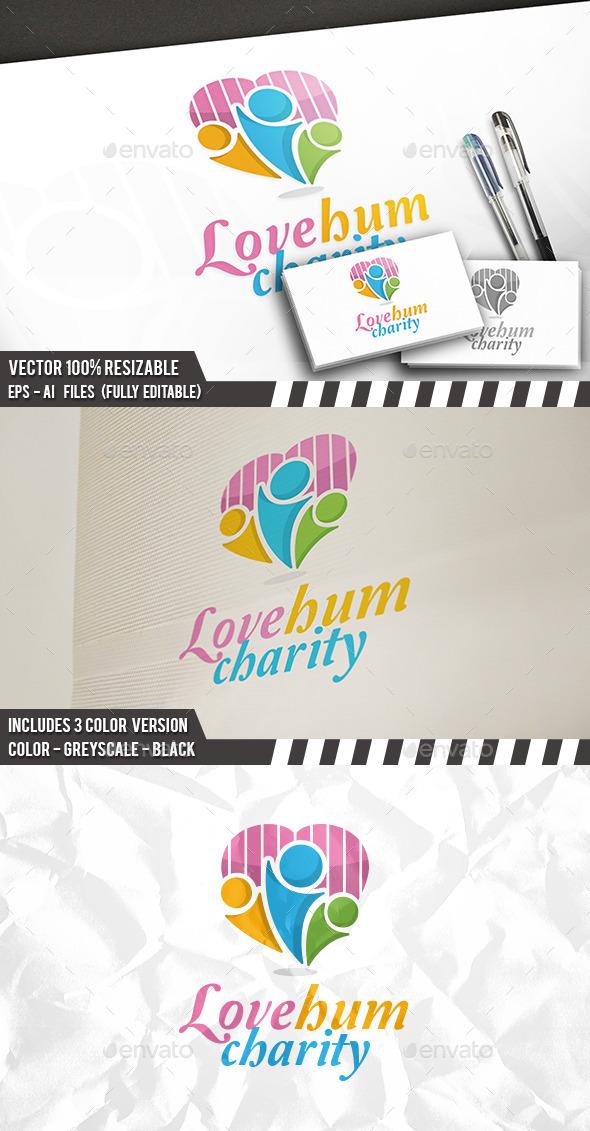 Love Brand Logo - Humans Logo Templates