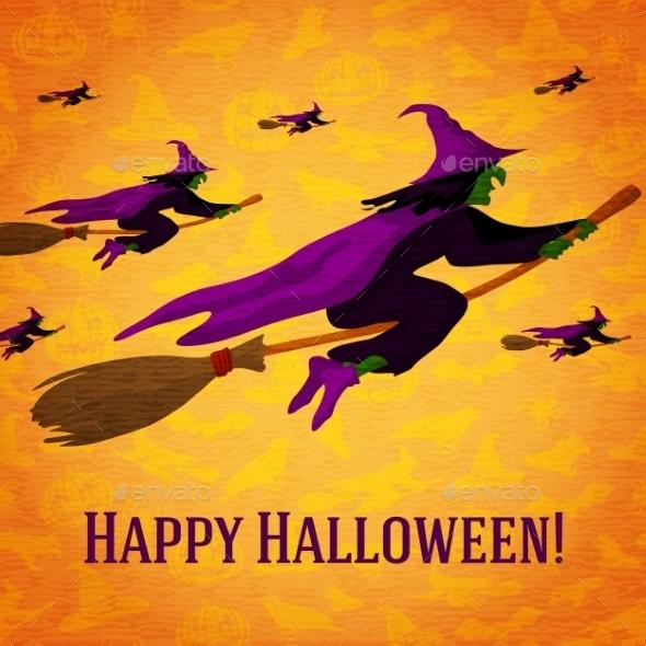 Happy Halloween Greeting Card  - Halloween Seasons/Holidays