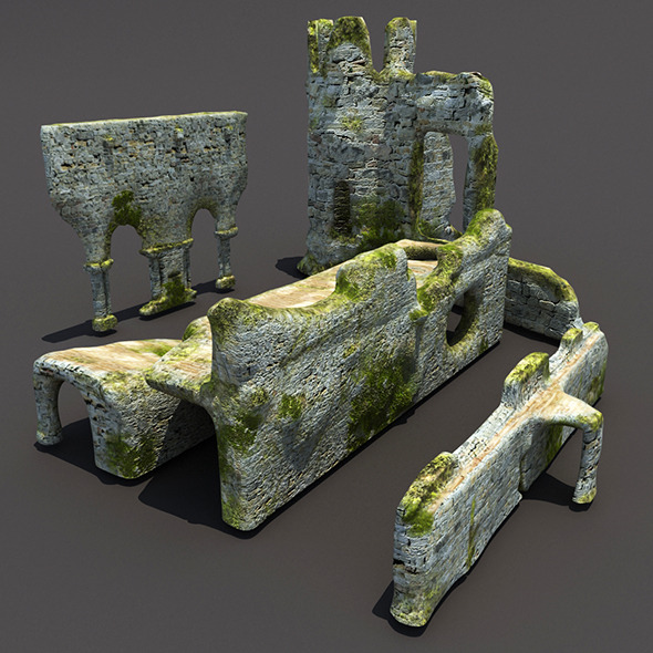 English Castle Ruin Pack - 3DOcean Item for Sale