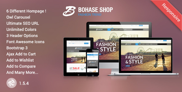 Bohase – Responsive and Multipurpose Zen cart Theme