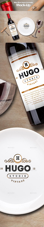 Wine Service Menu Creator Mock-Up - Food and Drink Packaging