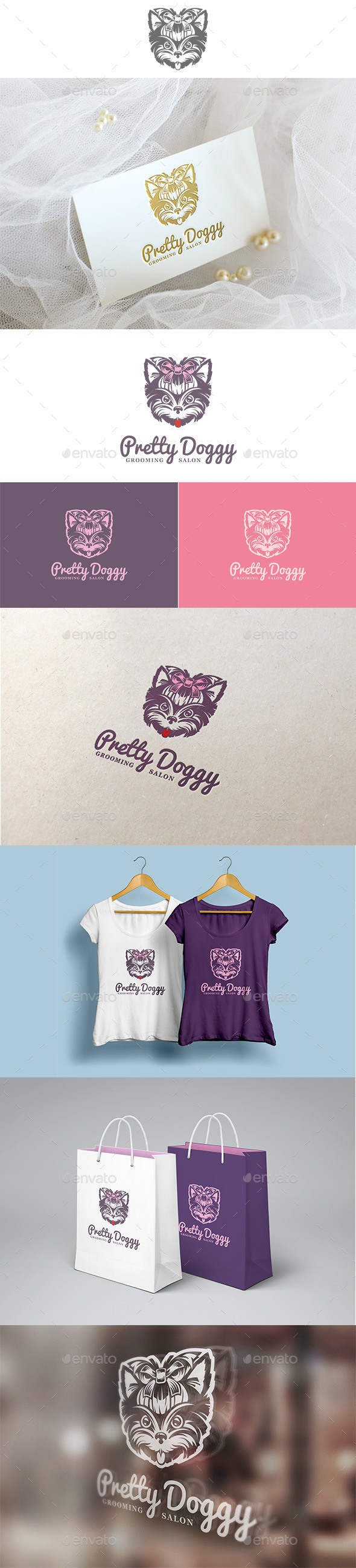 Pretty Doggy Logo - Animals Logo Templates