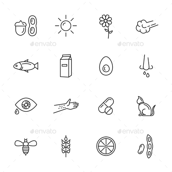 Allergy Icons - Icons