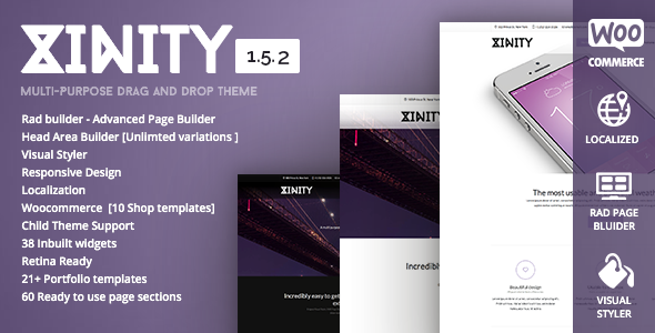 Xinity – Multi-Purpose Drag and Drop Theme