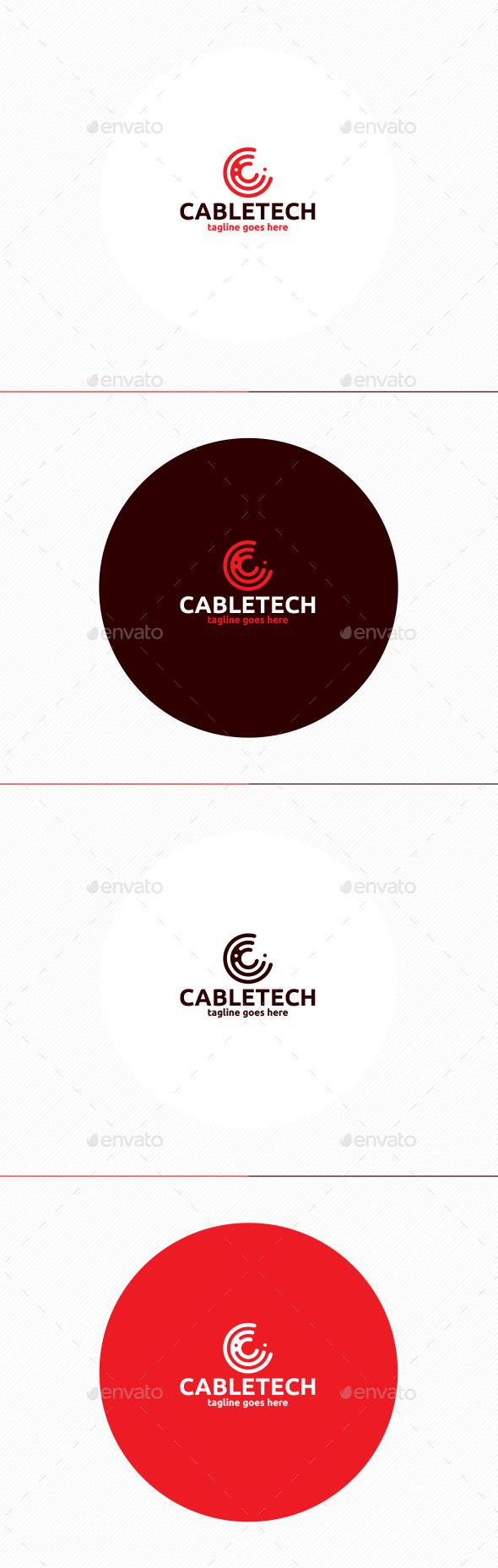 Cable Tech Logo • Letter C - Letters Logo Templates