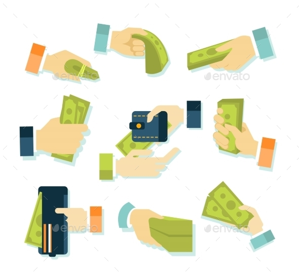 Money in Hands Icons - Concepts Business
