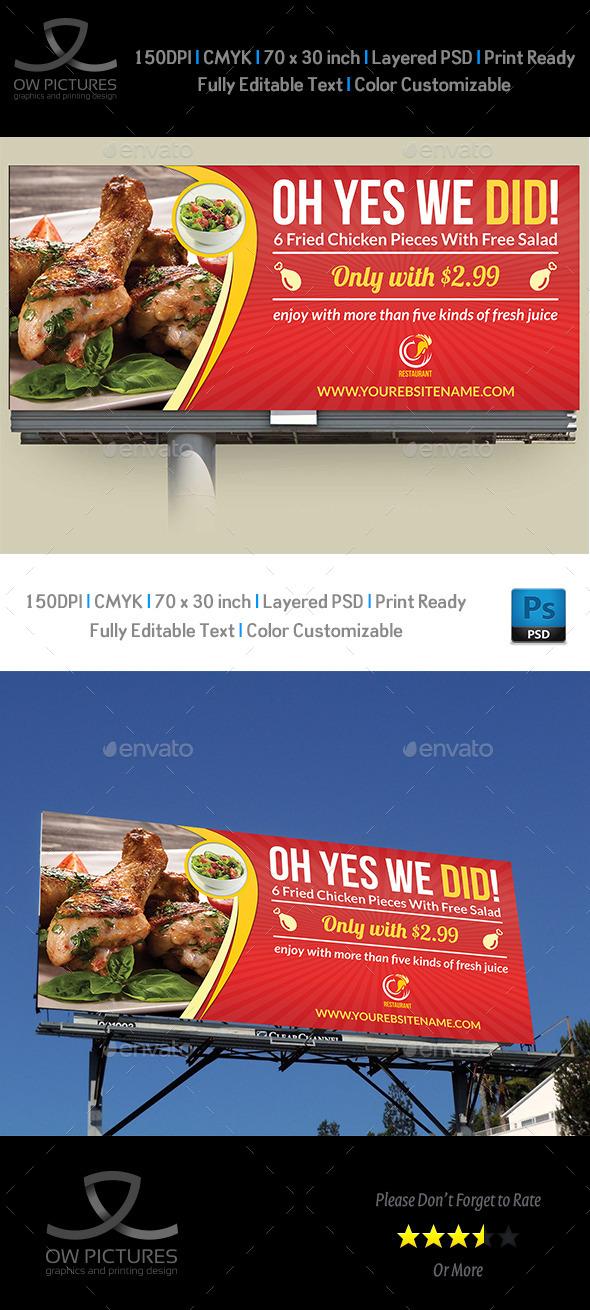 Restaurant Billboard Vol.2 - Signage Print Templates