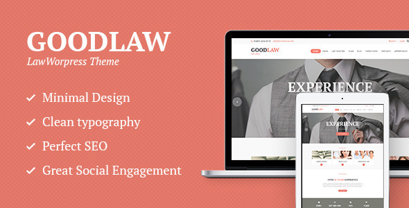 GoodLaw | Lawyers & Legal Adviser Theme