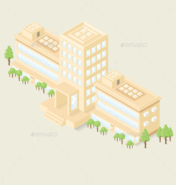 Isometric Office Building - Buildings Objects