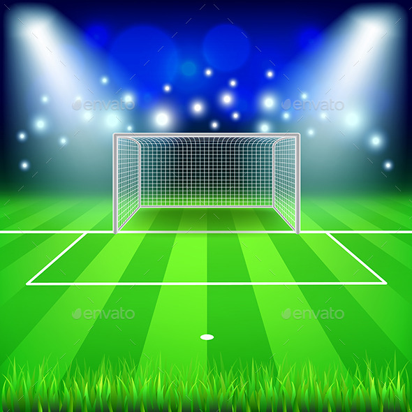 Soccer Goal Background - Sports/Activity Conceptual
