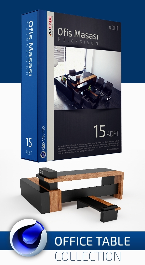 Allfabe - Office Table Collection - 3DOcean Item for Sale
