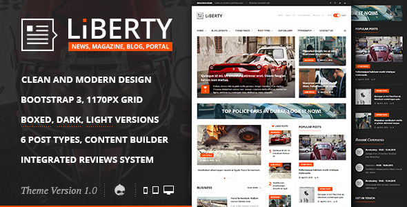 Liberty News – Magazine, Blog Drupal Theme