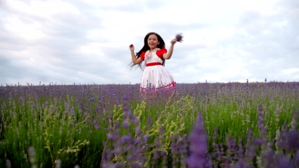 Girl In a Field Of Lavender Fun Screams And Slaps