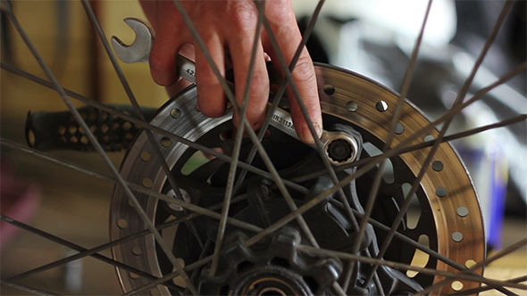 Repair Motorcycle Wheel