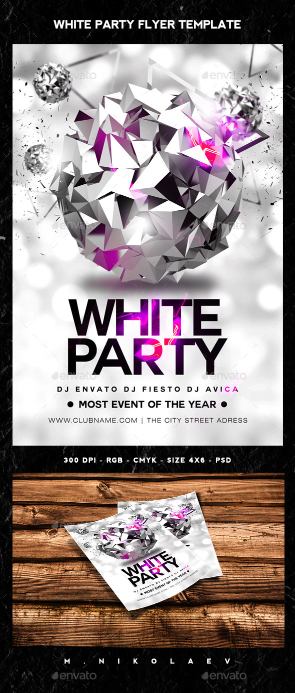 White Party Flyer - Clubs & Parties Events