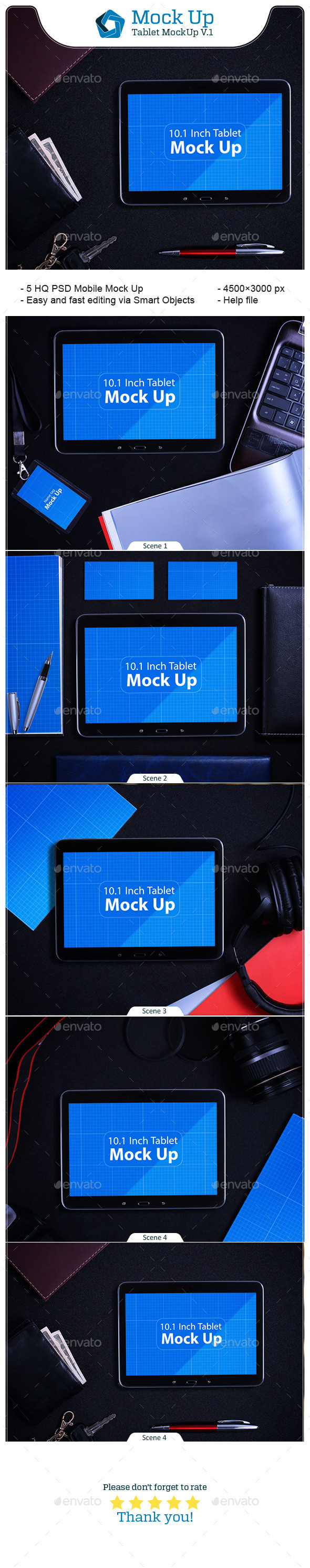 Tablet MockUp V.1 - Mobile Displays